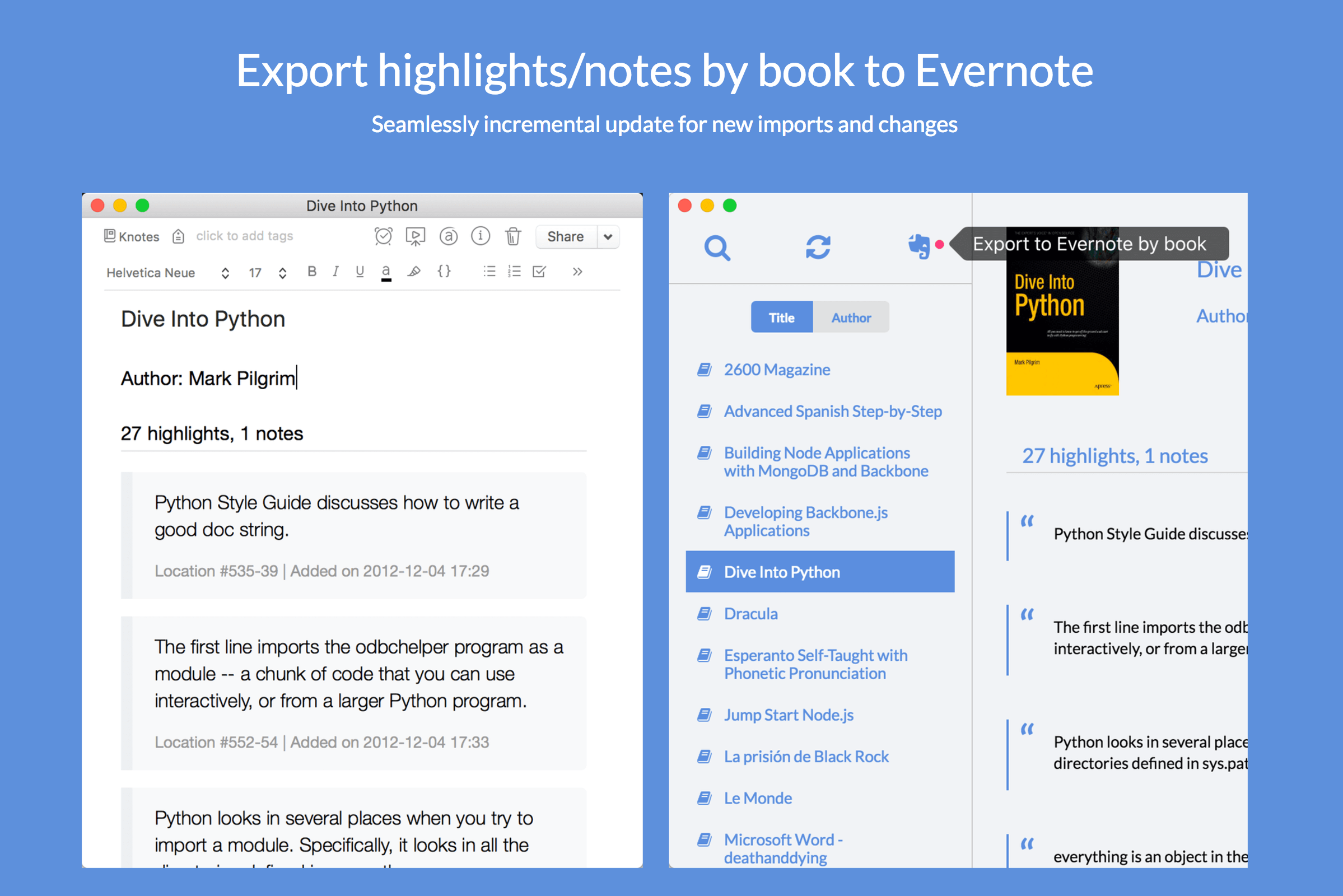 Export to Evernote